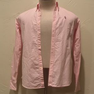 Ralph Lauren Mens Size 6 Pink & White Dress Shirt